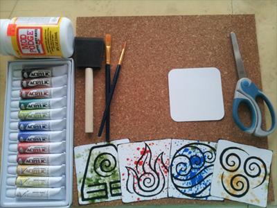 avatar cork coasters supplies