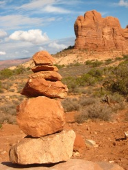 Arches National Park Cairn