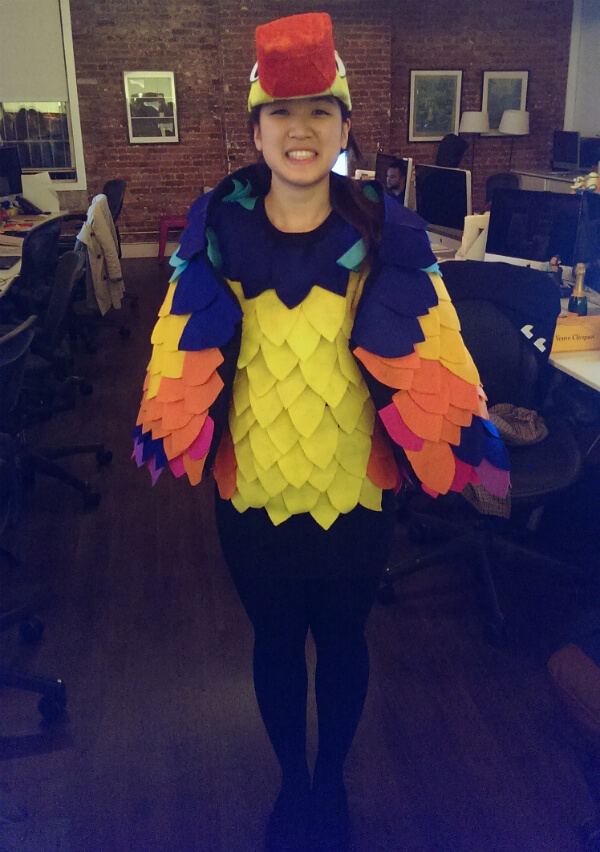 DIY kevin the bird costume front view