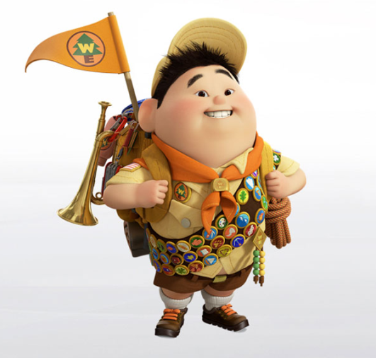 Russell from Pixar Movie Up