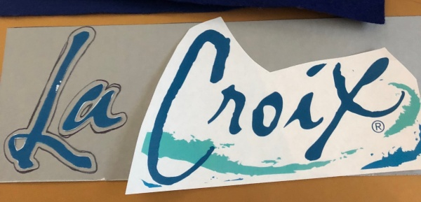 DIY La Croix can costume logo
