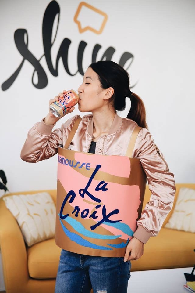 DIY La Croix can costume